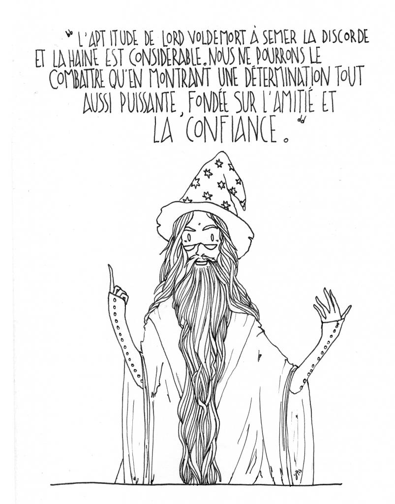 """""""Montrons une détermination puissante, fondée sur l'amitié et la confiance"""" Dumbledore, dans Harry Potter. Cette citation peut se rapprocher de ce que je pense après les attentats du 13 novembre 2015..."""