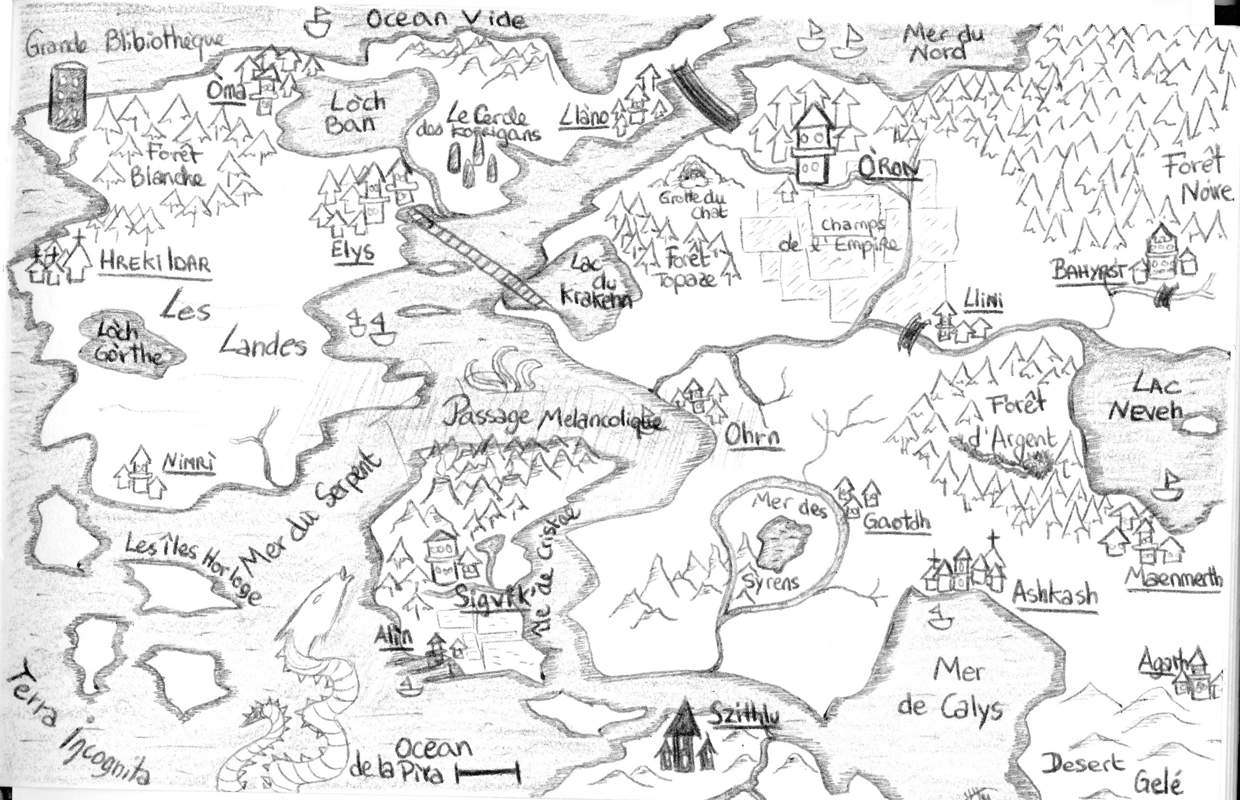 La carte d'Eyridian lors du Troisième Axe
