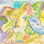 La carte d'Eyridian lors du Deuxième Axe