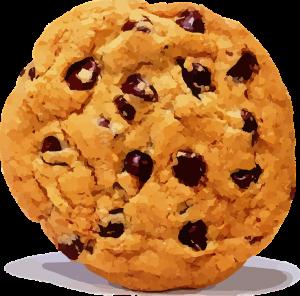 Une image de cookie aux pépites de chocolat, c'est une blague.